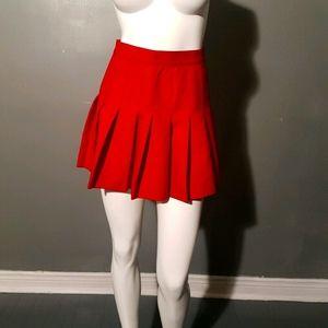 American Apparel Red Mini Skirt